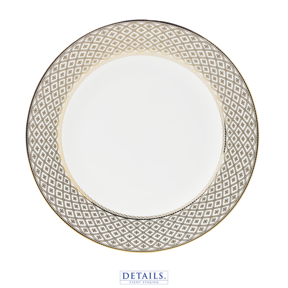 MARCELLA Gold PLATE — AVAILABLE IN B&B, LUNCHEON, AND DINNER SIZES