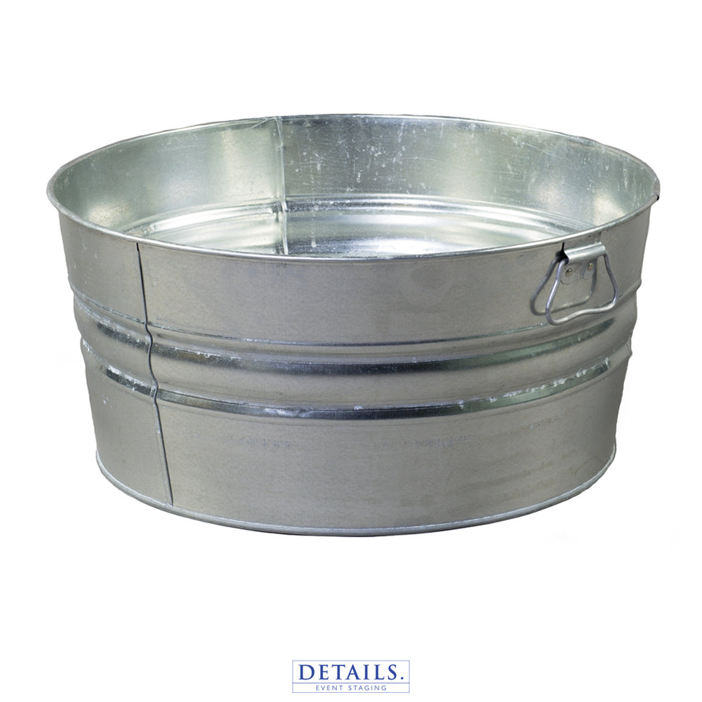 LARGE ICE PAIL — GALVANIZED STEEL