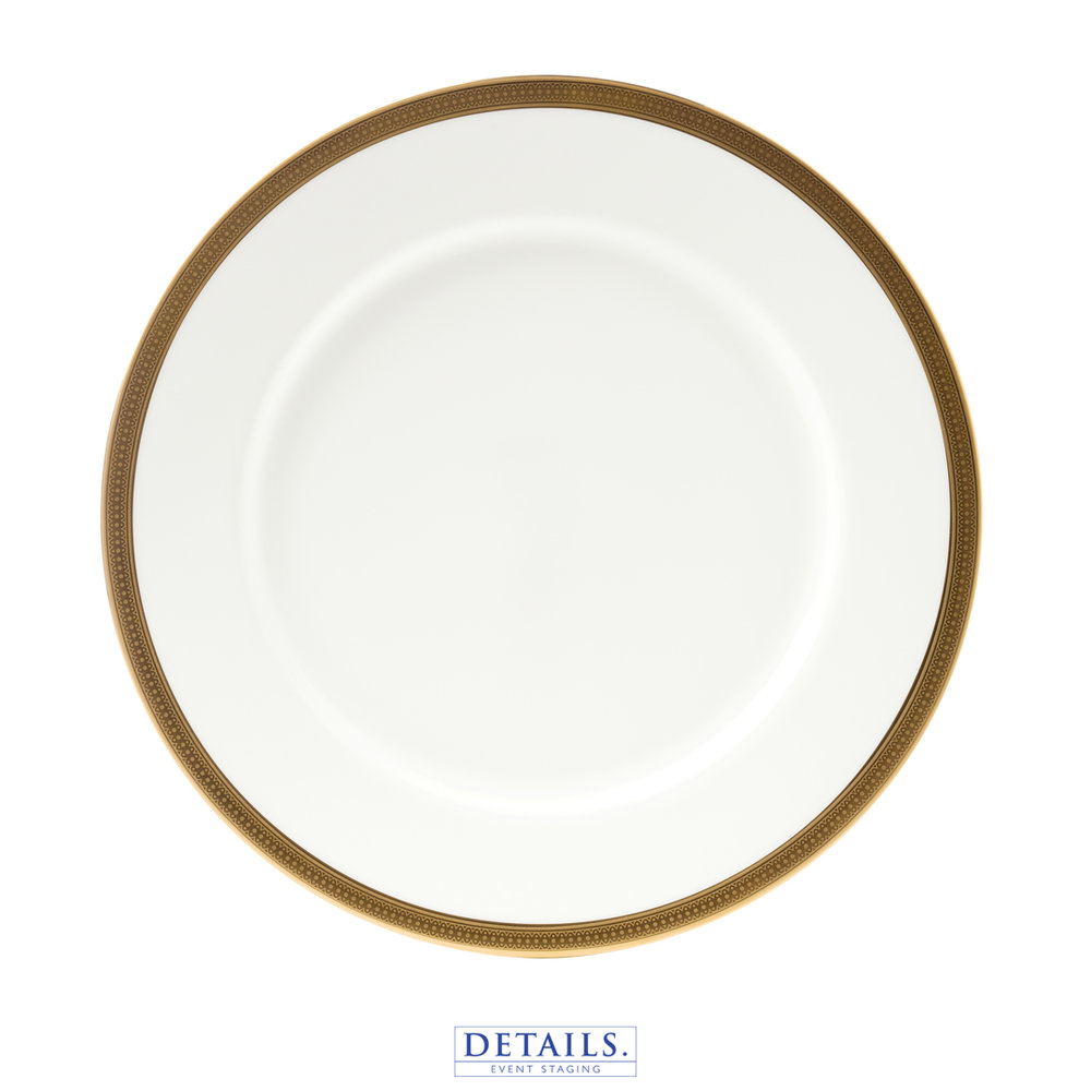DAUPHINE GOLD PLATE — AVAILABLE IN B&B, LUNCHEON, AND DINNER SIZES