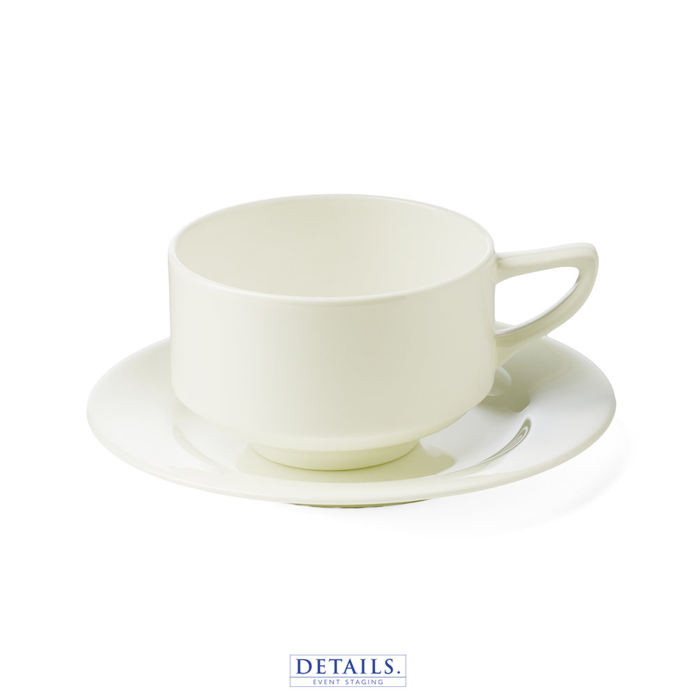 Taura Bone China — Coffee Cup with Plate