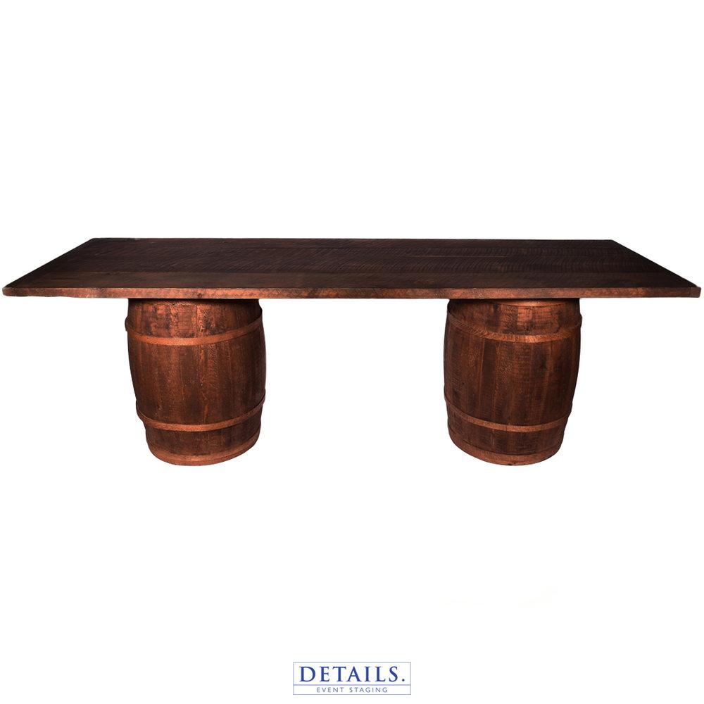Barn Wood Barrel — Dessert Table
