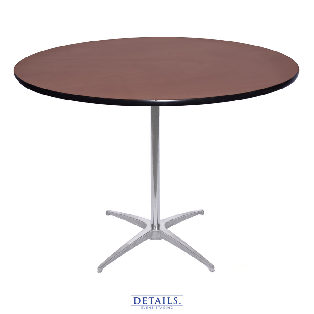 "COCKTAIL TABLE — 36"" DIAMETER (HEIGHTS: 30"" OR 42"")"