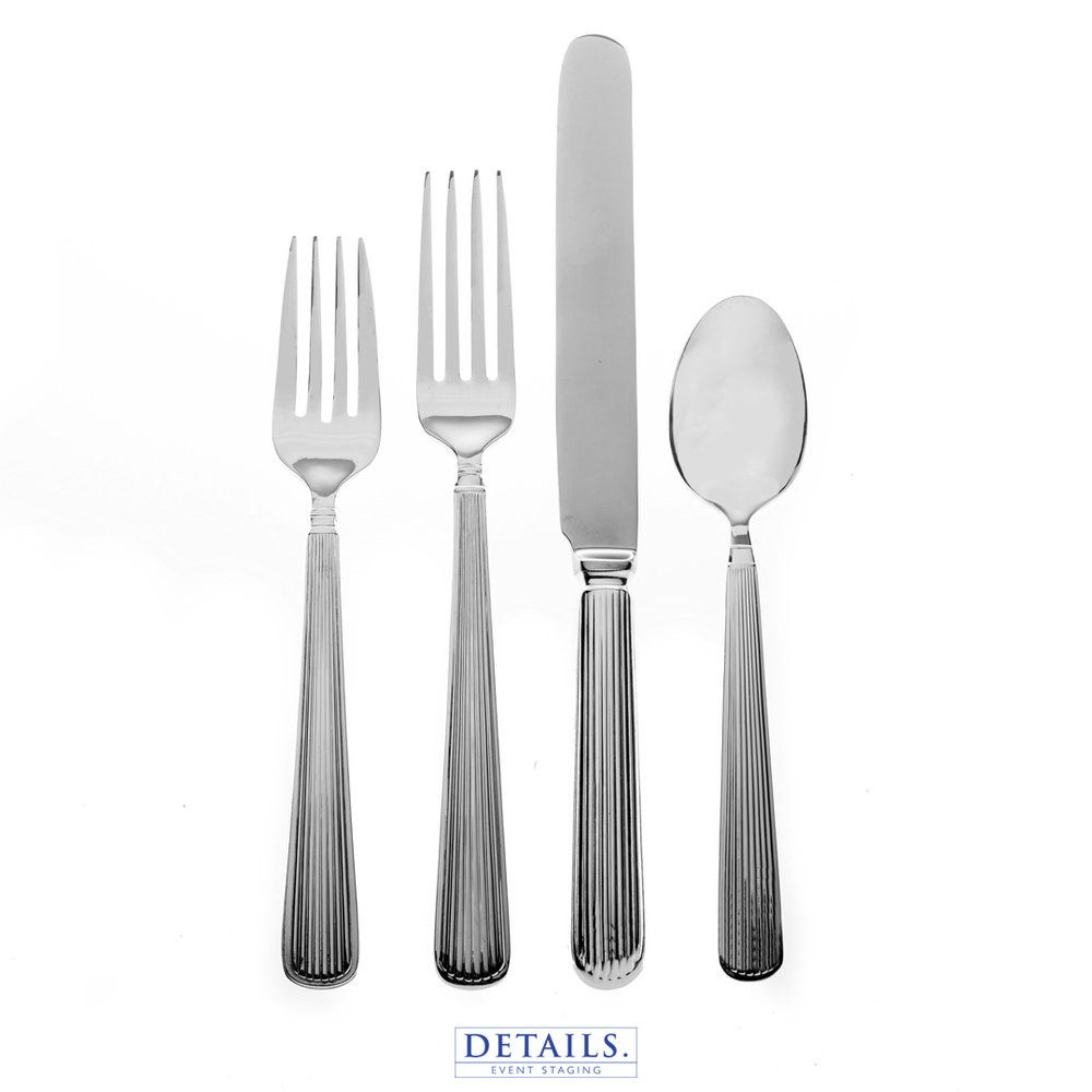 SILVER PLATED  LINEAR FLATWARE