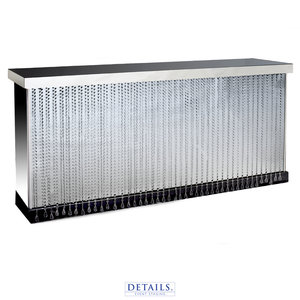"CRYSTAL MIRRORED BAR — 96""W X 28""D X 42""H"