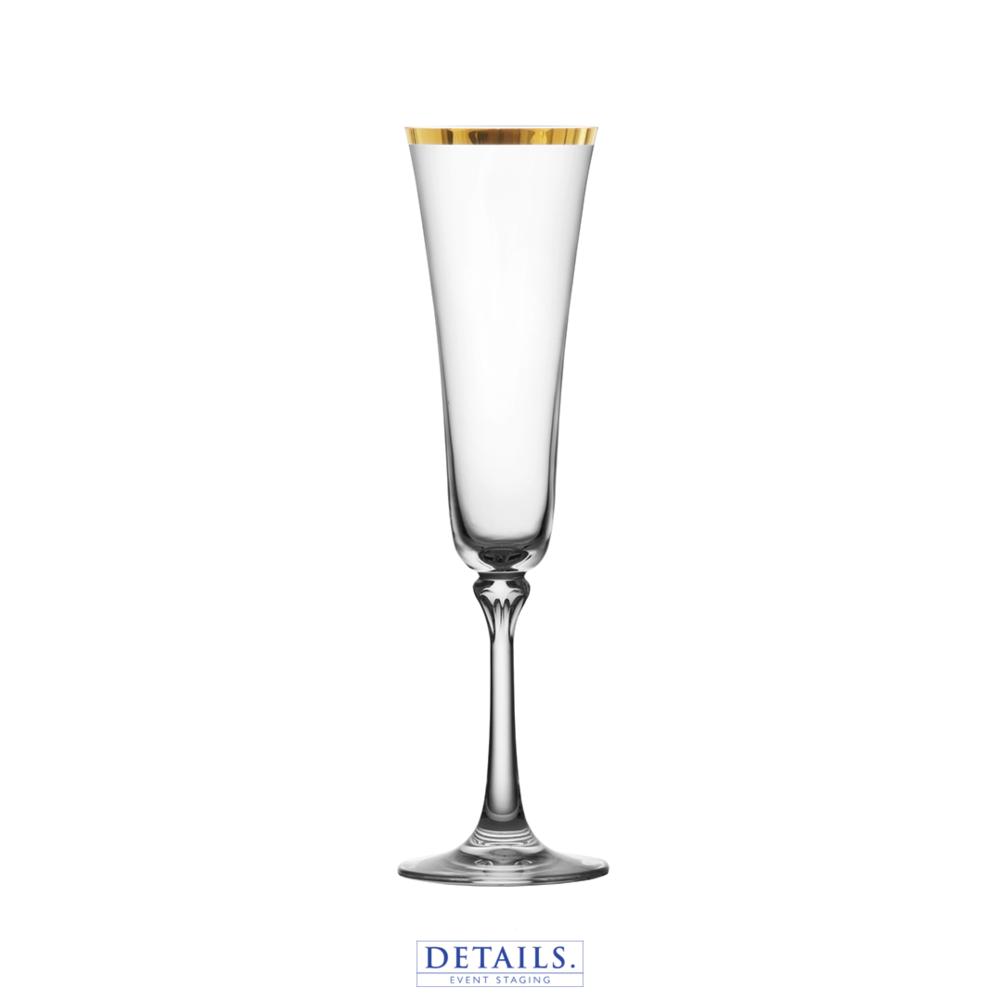 SCHOTT ZWIESEL - Charlotte Gold Rimmed Champagne Flute (7.3 oz)