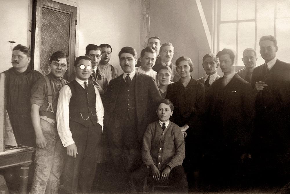 Fernand bussière et son équipe en 1927
