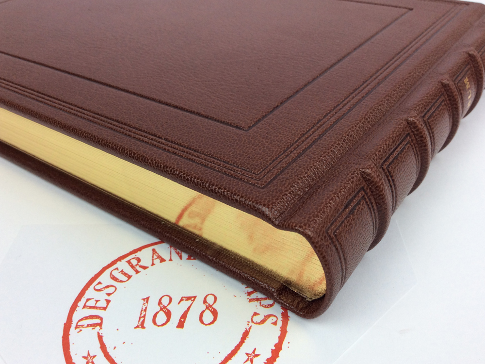 Traditional leather binding, gold-edging