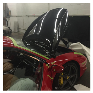 Ferrari color change from red to black