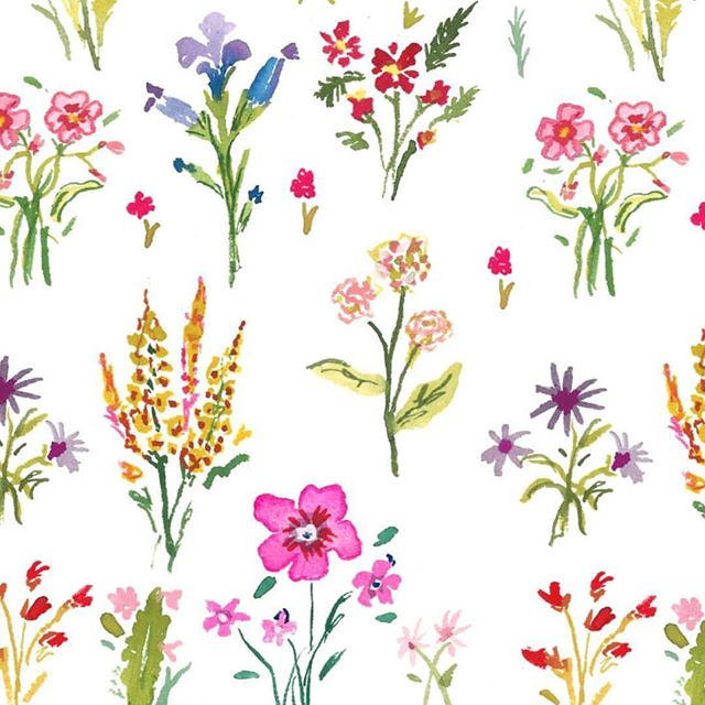 We'd like for artist @larsenmcdowell to come over and paint our office walls in this beautiful floral print 🌸🌾