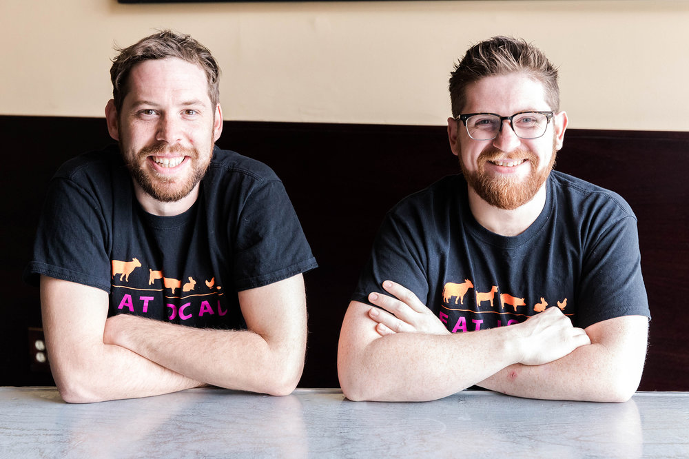 From left to right: Graydon Chapman, 32, originally from South Africa moved to New Haven a year and a half ago by way of Miami. Position at ZINC New Haven: Sous Chef. Ian Brown, 29, originally from Providence, Rhode Island. Position at ZINC New Haven: Grill and Sauté Cook.