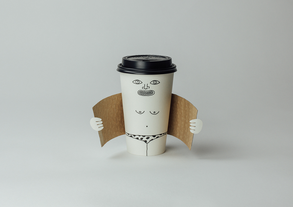 Exhibitionist coffee cup (Dismaland version)
