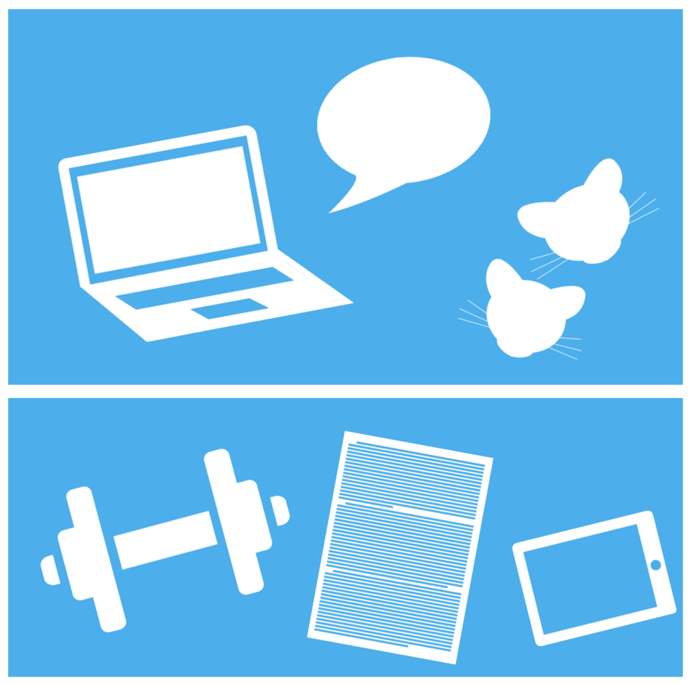 Icons   These are icons I created for a presentation about how I spent my time as a first-year PhD student.