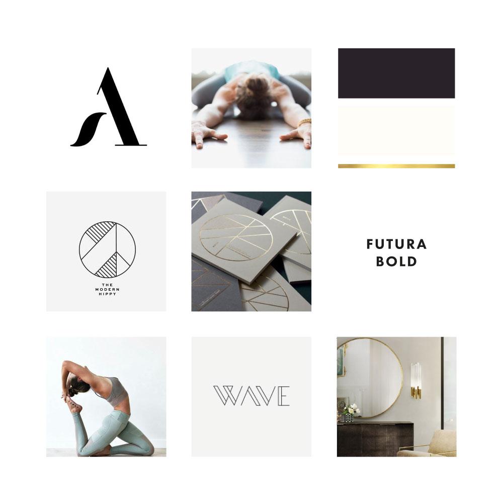 activewear brand mood board