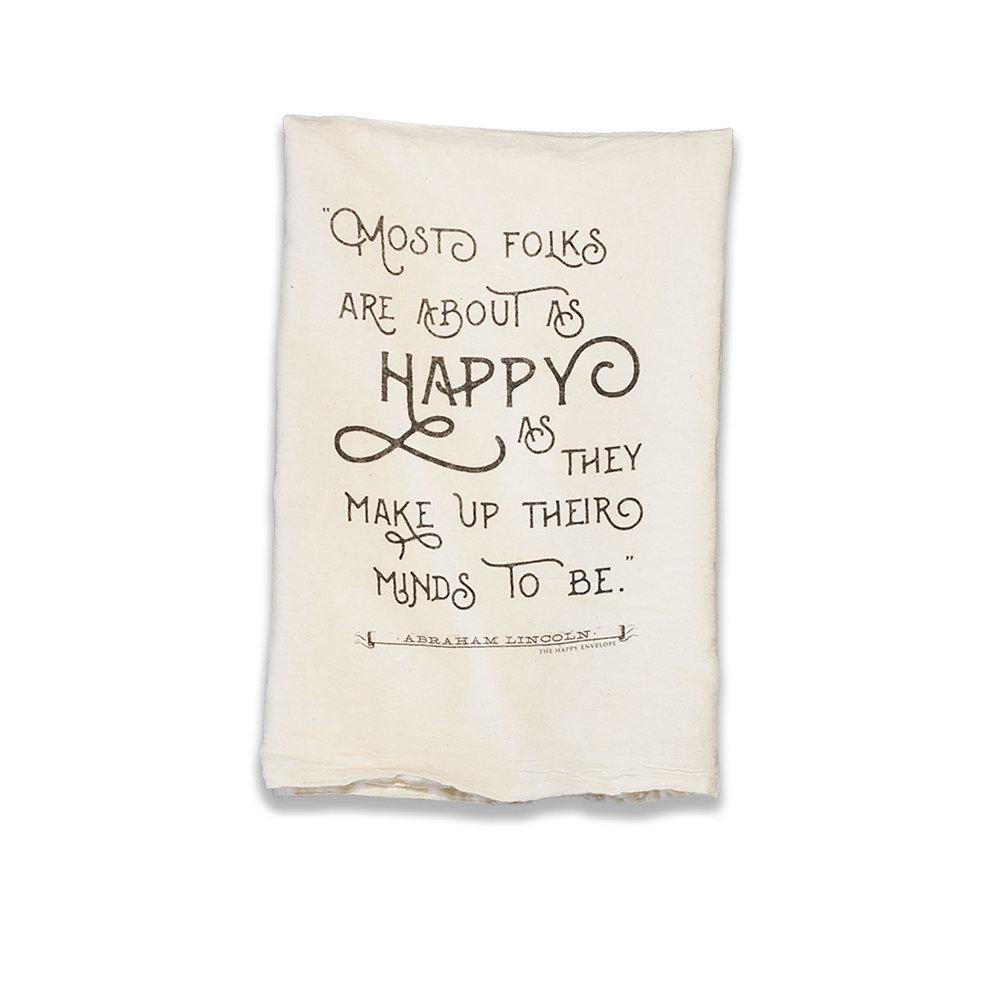 Make Up Your Mind Tea Towel  - The Happy Envelope • $15