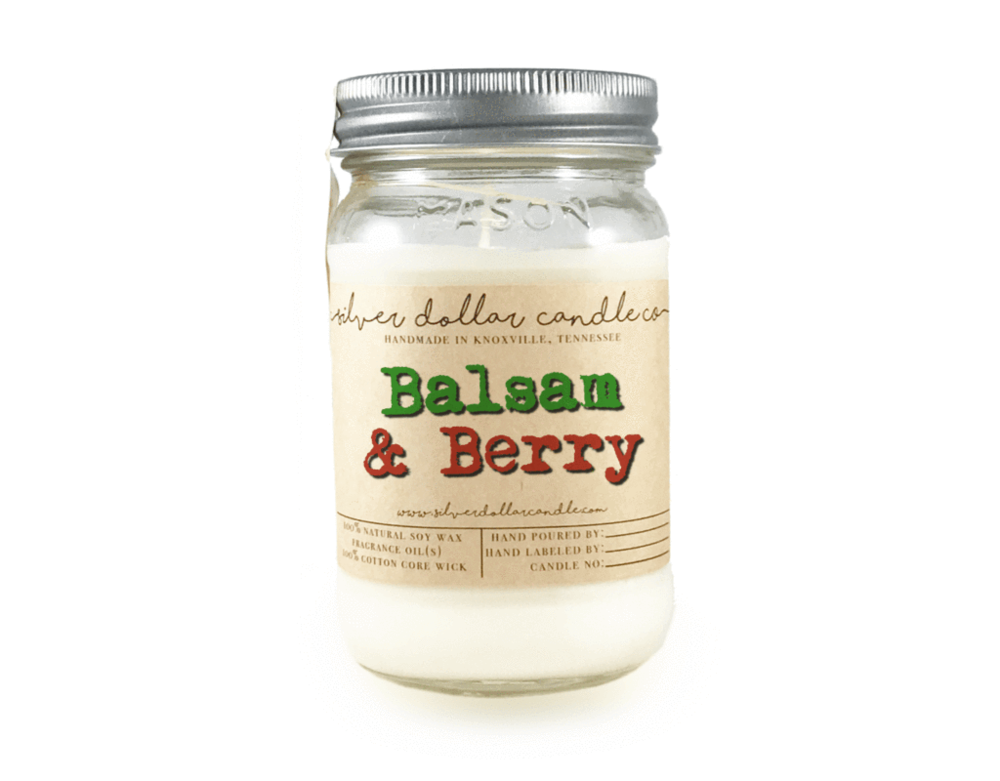 Balsam & Berry Soy Candle  - Silver Dollar Candle Company • $18.95