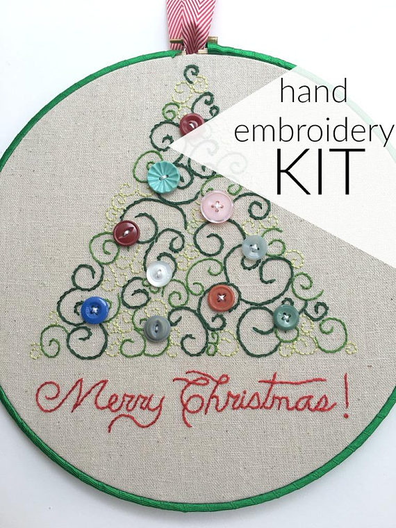 Christmas Hand Embroidery Kit -  DaisyEyes Handmade • $14.50