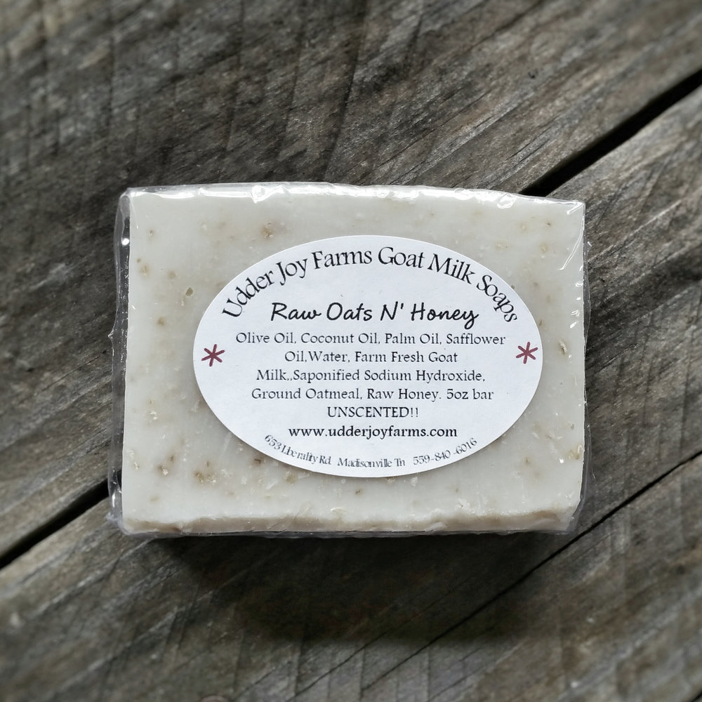 Raw Oats & Honey Goat's Milk Soap  - Udder Joy Farms • $6.99