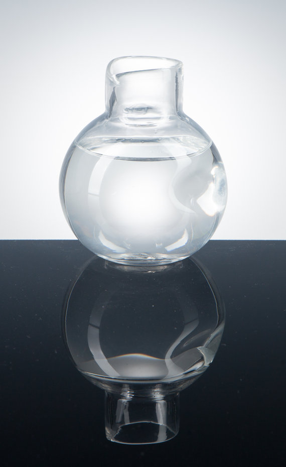 Modern Water Carafe -  Pretentious Glass • $32