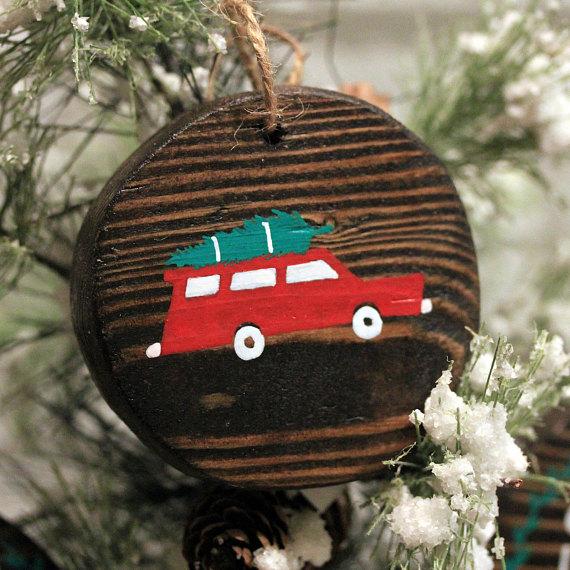 Vintage Car Wood Ornament  - Opal Design Shop • $8