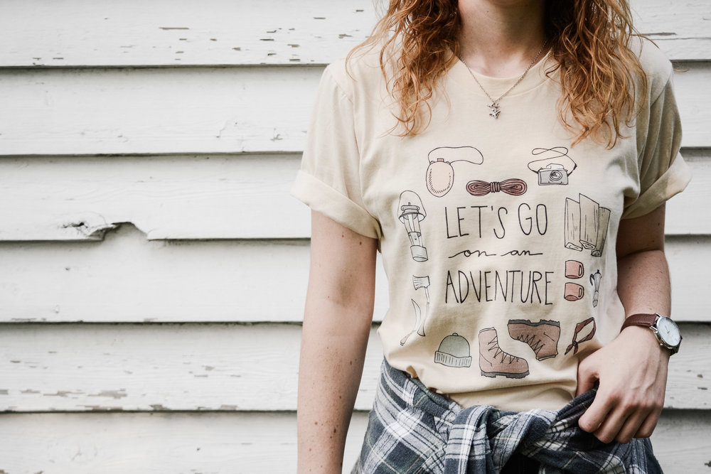 Let's Go on an Adventure Tee -  Vagabondary • $25