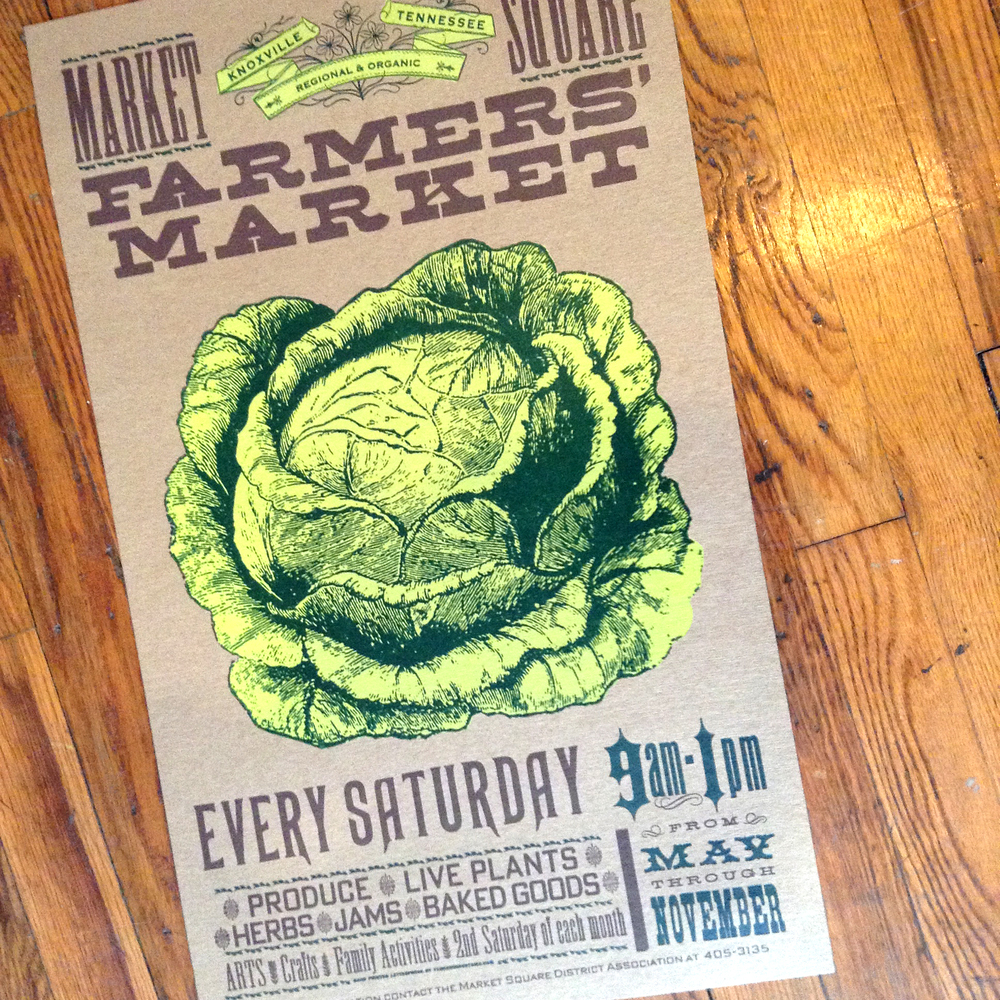 Pioneer House • Farmers' Market Letterpress Poster • $30