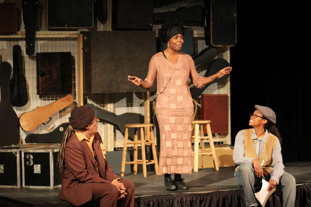 Bert Tanner, Andresia Moseley, Taria Person during Between a Ballad and a Blues / Photo by Jonathan Clark