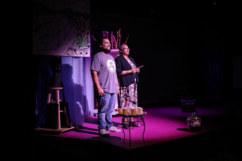 Jonathan Clark and Linda Parris-Bailey during Ce Nitram / Photo by Daje Morris