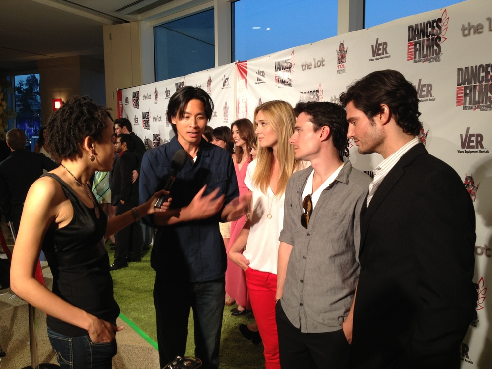 At Red Carpet for Dances with Films, with actors Jelly Howie, Daniel Bonjour and Eddie Finlay
