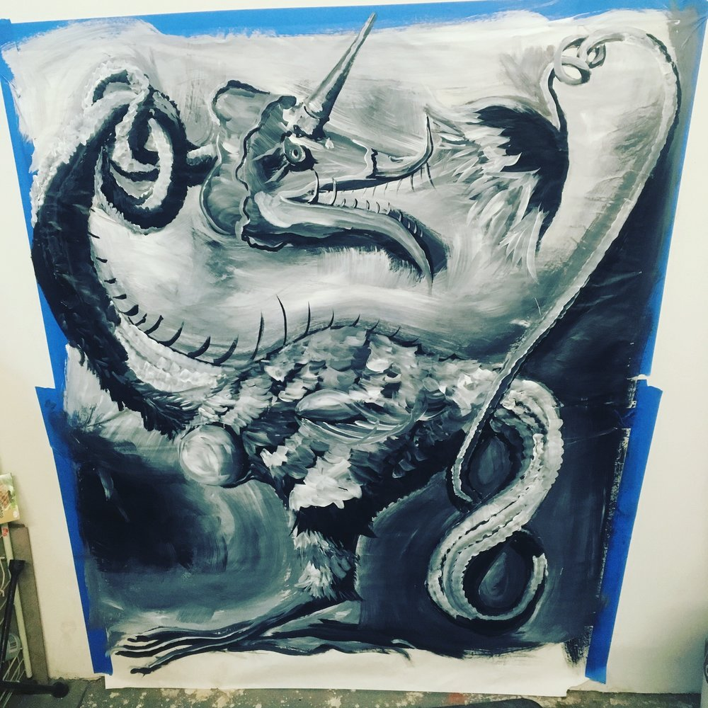 Map monster painting