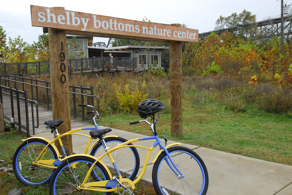 Bicycling at Shelby Bottoms Nature Center