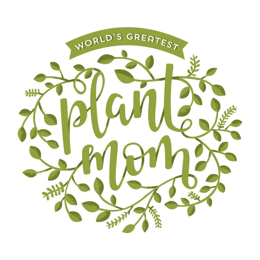 Natasia Designs Plant Mom Illustration Lettering Edmonton Alberta