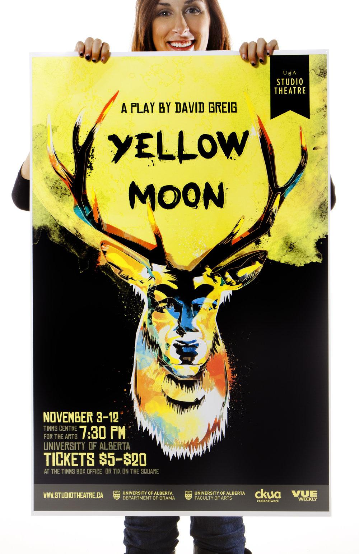 Natasia Designs Yellow Moon Poster Design Edmonton