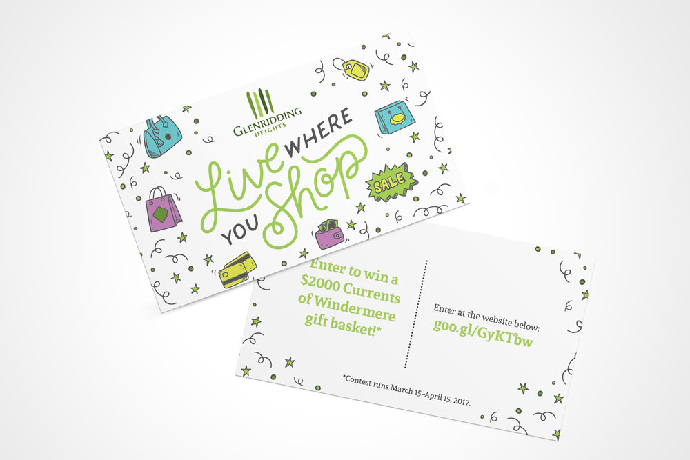 Natasia Designs Freelance Garphic Design Edmonton Glenridding Heights Promotion Materials with Custom HandLettering