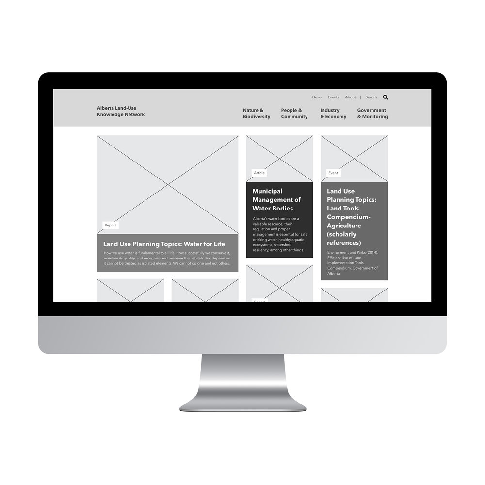 Natasia Designs Edmonton Website Designer and Developer Wireframe of website user exprience ui functionality