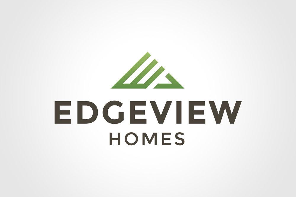Natasia Designs Edmonton Alberta Freelance Logo Designer - Edgeview Homes Logo Design and Branding