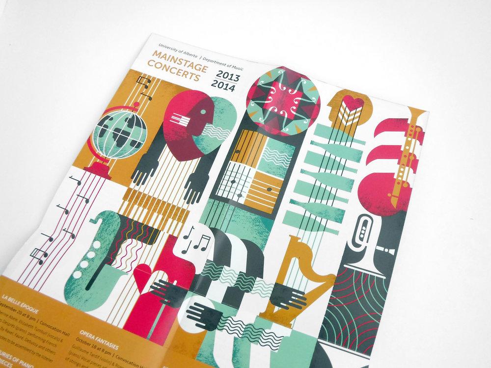 Natasia Designs Edmonton Graphic Designer Print Brochure Design Custom Illustration University of Alberta Department of Music Season Piece Poster Design