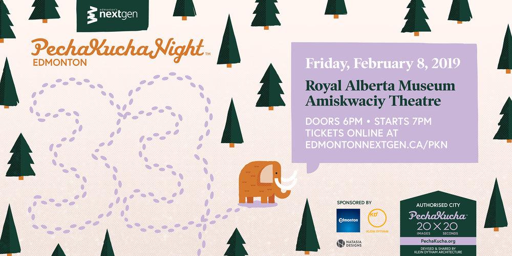 Pecha Kucha Night Edmonton Graphic design Poster Design Illustration