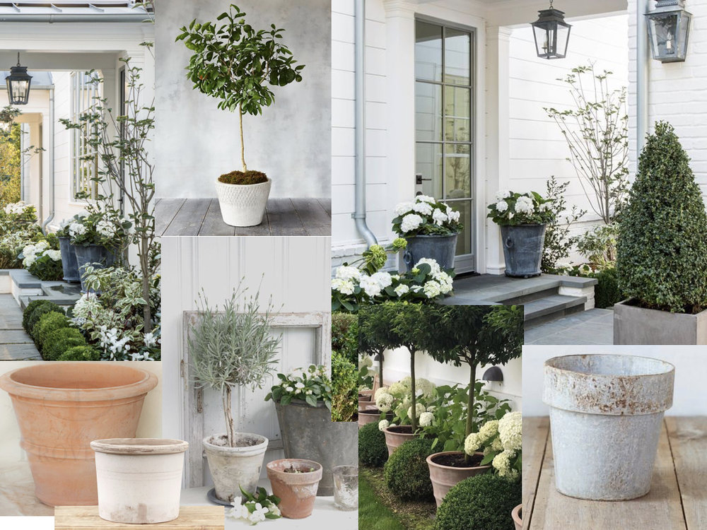 Right now I am literally obsessed with mixed planters, especially a white washed terracotta and white hydrangea. All planters are from  Terrain   .   Photo credits //  Gianetti Architects  .