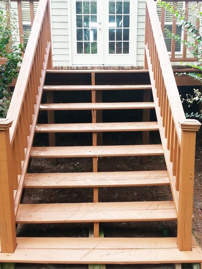 Add charm to your home with handcrafted wooden steps!