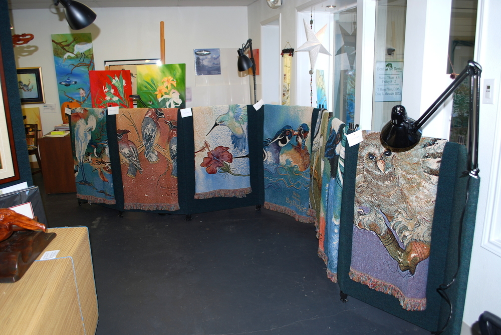 tapestry show in gallery.JPG