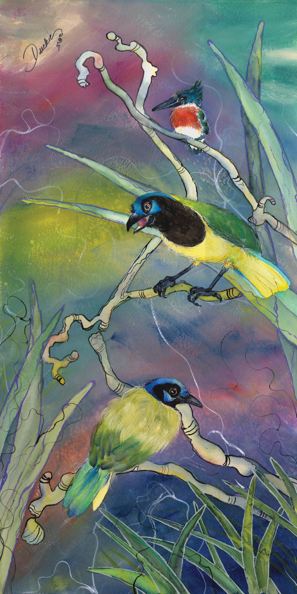 Sparkle of Light - green jays