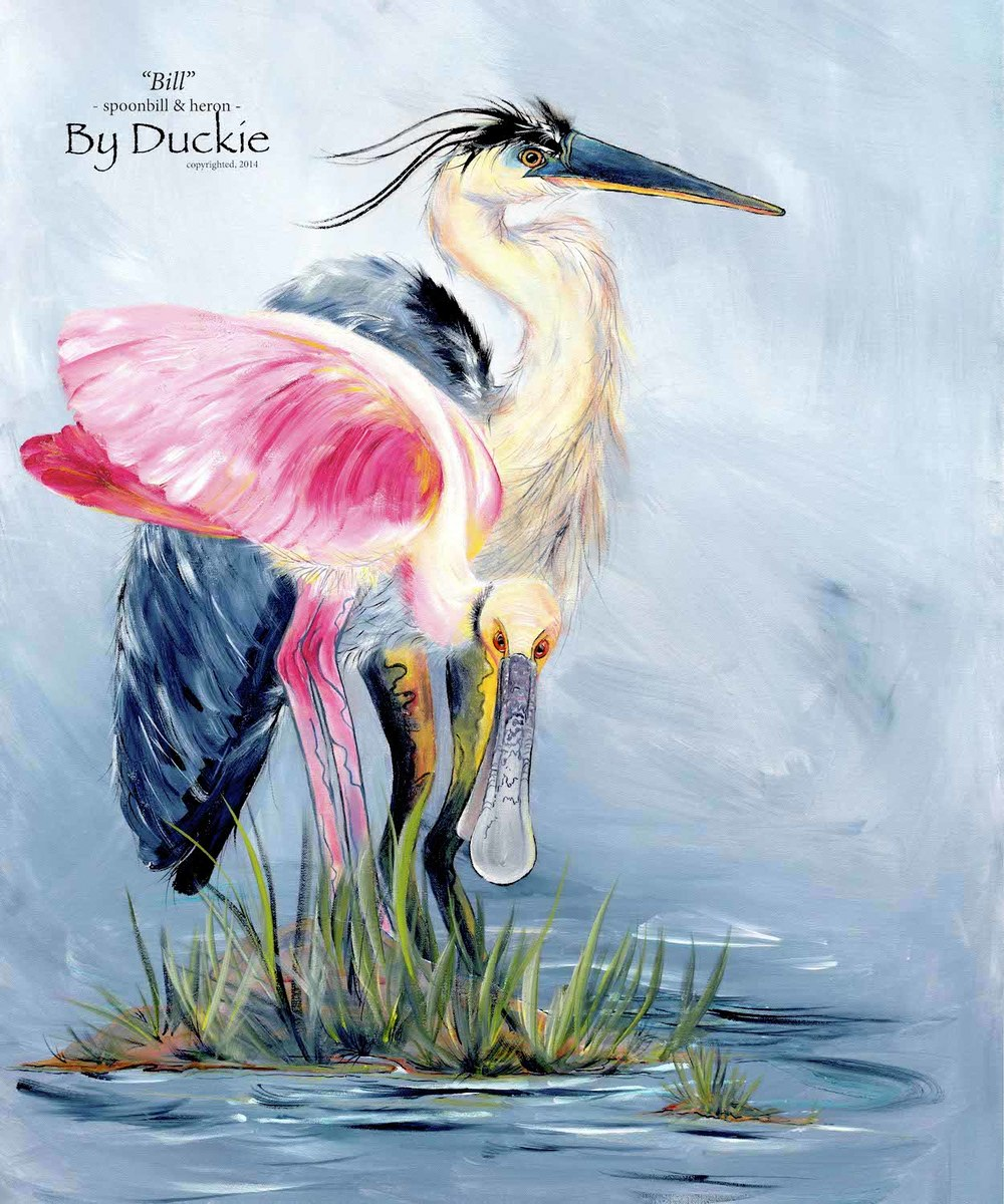 Bill Spoonbill heron tapestry ps.JPG