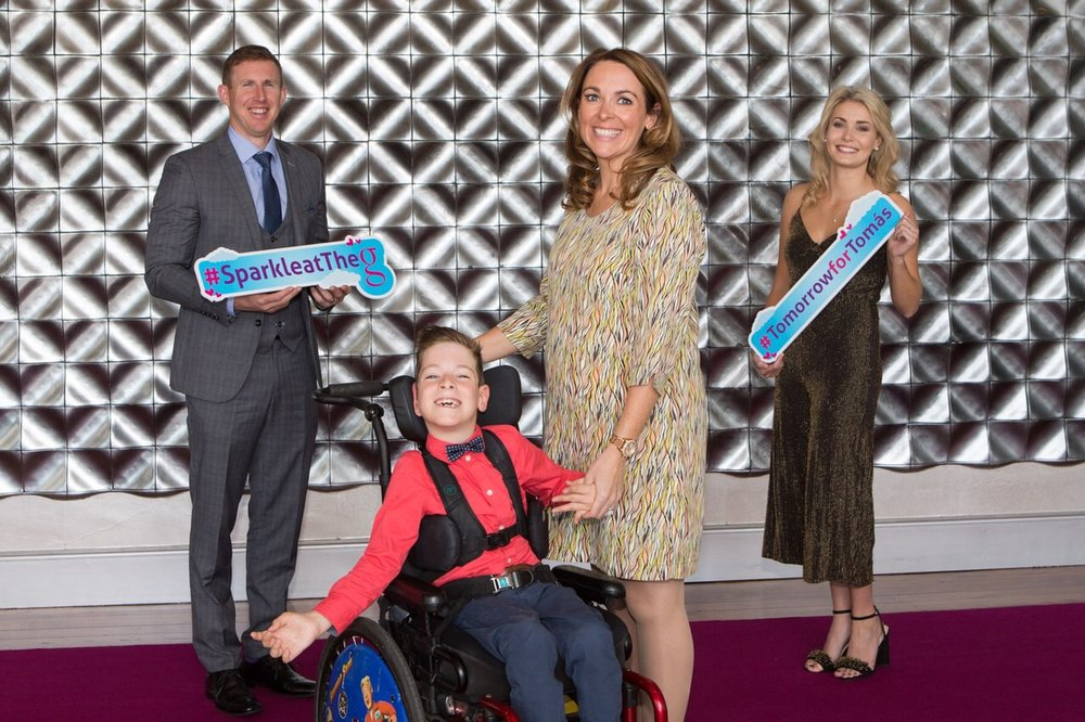 L - R Gary Sice,  CorofinGAA  Footballer, Tómas, AnnMarie & Kate Molone,  Catwalk Modelling Agency  pictured at the launch of Sparkle at the g taking place on Friday 14th September. Photo Credit  Martina Regan Photography