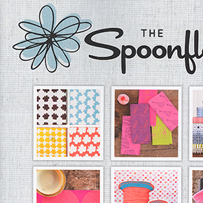 The Spoonflower Handbook - September 2015A DIY guide to designing fabric, wallpaper and gift wrap, with 30+ projects, including a zipper pouch made with my Risky Business print.