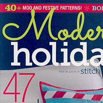 Modern Holidays Magazine - September 2014Designer Stephanie Bracelin offers the how-to for making a fun holiday gift using my King of Cups print.