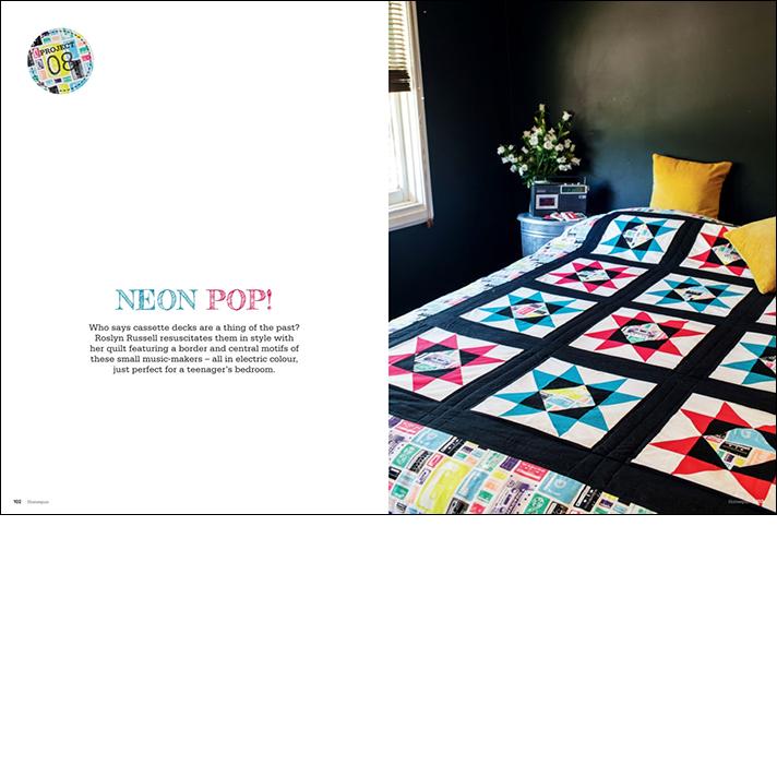 Neon Pop Quilt Opener Spread
