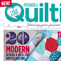Love Patchwork & Quilting Magazine: Issue Two - November 2013The magazine's letterpress-themed