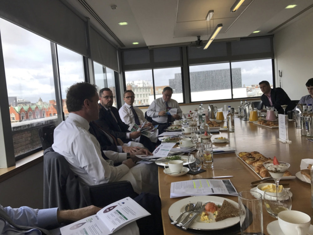 Location: Breakfast meeting for an economic overview at Davy's, Ireland's leading provider of wealth management, asset management, capital markets and financial advisory services.