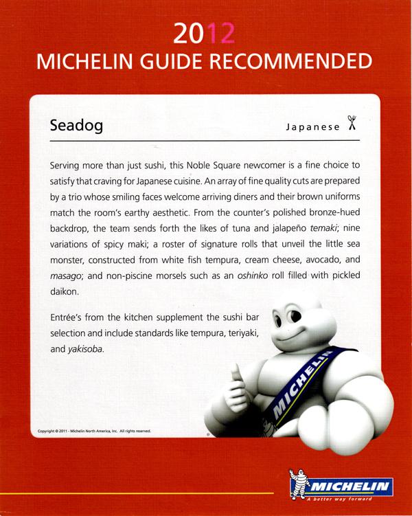 Michelin 2012