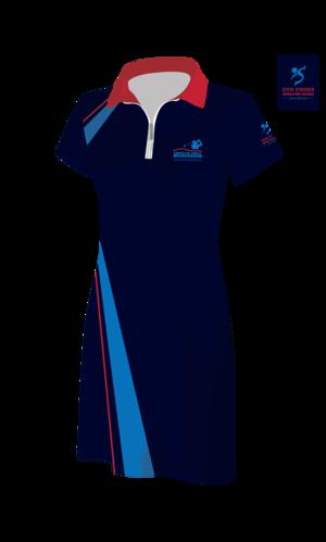 7c7b23e9eb6170 Short Sleeve Dress w/ Zip Collar.  Womens_AMFAMCHAMP_Dress_03052_Polo-Zip_2.png